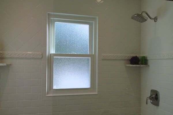 obscured glass window in shower