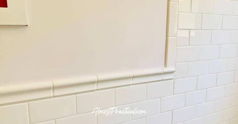 Tile Wainscoting for the Bathroom