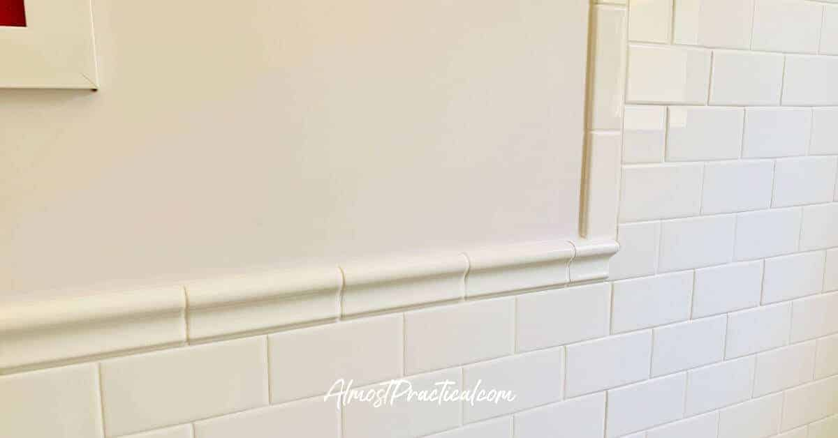 tile wainscoting example in bathroom