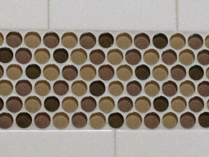 The way the glass tile accents look when installed.