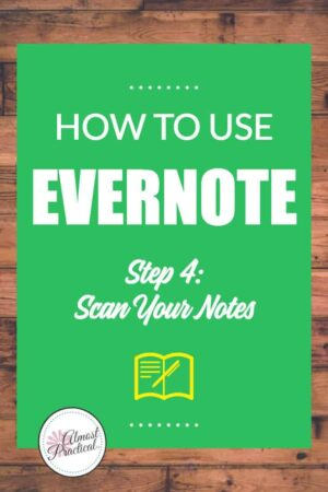 Scan your notes into Evernote.