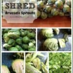 How to shred brussels sprouts for great, healthy, dinner and side dish recipes.