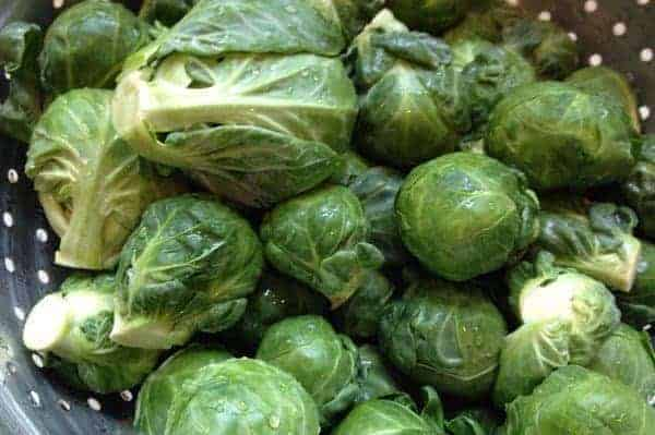 rinse brussels sprouts