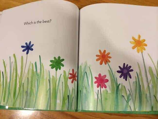 Teaching children colors.