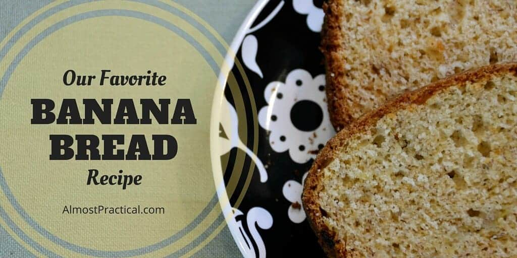 Our favorite banana bread recipe - so moist and delicious. Very easy to make.