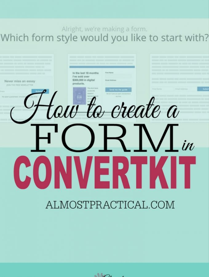 How To Set Up a Form In Convertkit