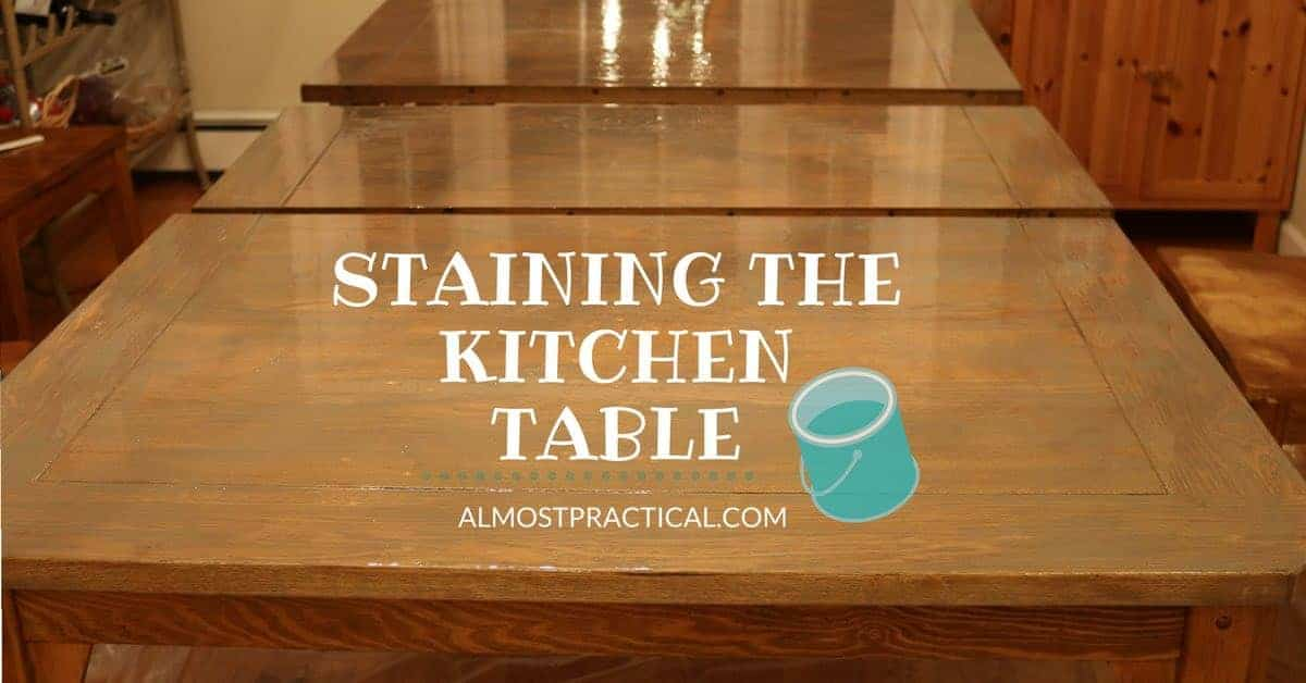 How to stain a wood veneer kitchen table top a refinishing diy - Refinish kitchen table top ...