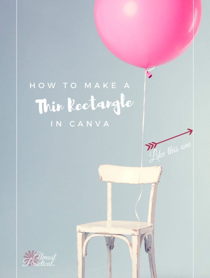 Are you perplexed at how to make a thin rectangle in Canva? Please tell me that I am not the only one. And humor me by watching the quick tutorial, if I am.