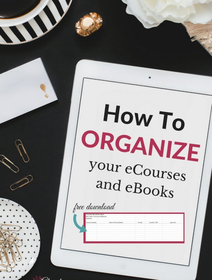 How to Organize Your eCourses and eBooks