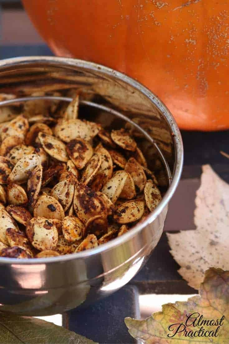 Roasted Pumpkin Seeds Recipe With Spices and Lemon