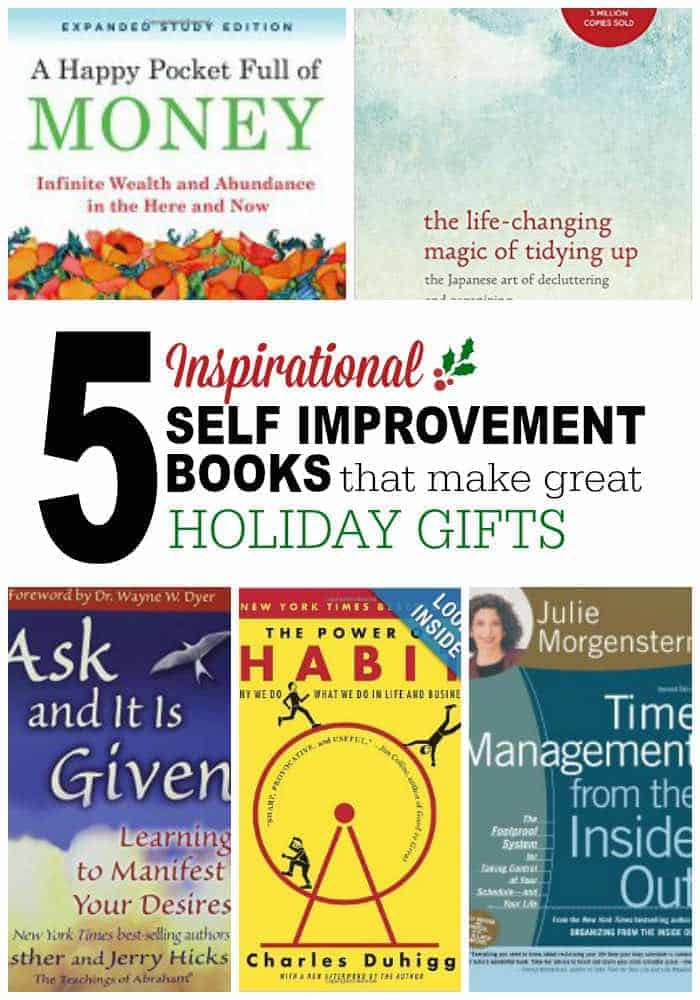 5 Inspirational self improvement books that make great holiday gifts.