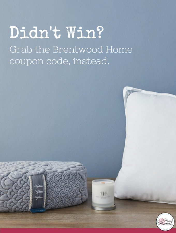 Giveaway Winner And a Brentwood Home Coupon Code