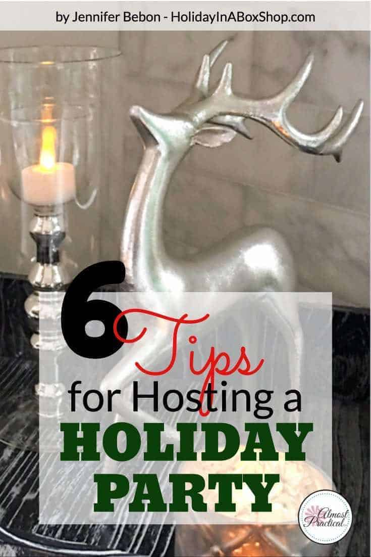 6 Holiday party tips for hosting a winter celebration - Holiday decorating tips to create a festive home for Christmas.