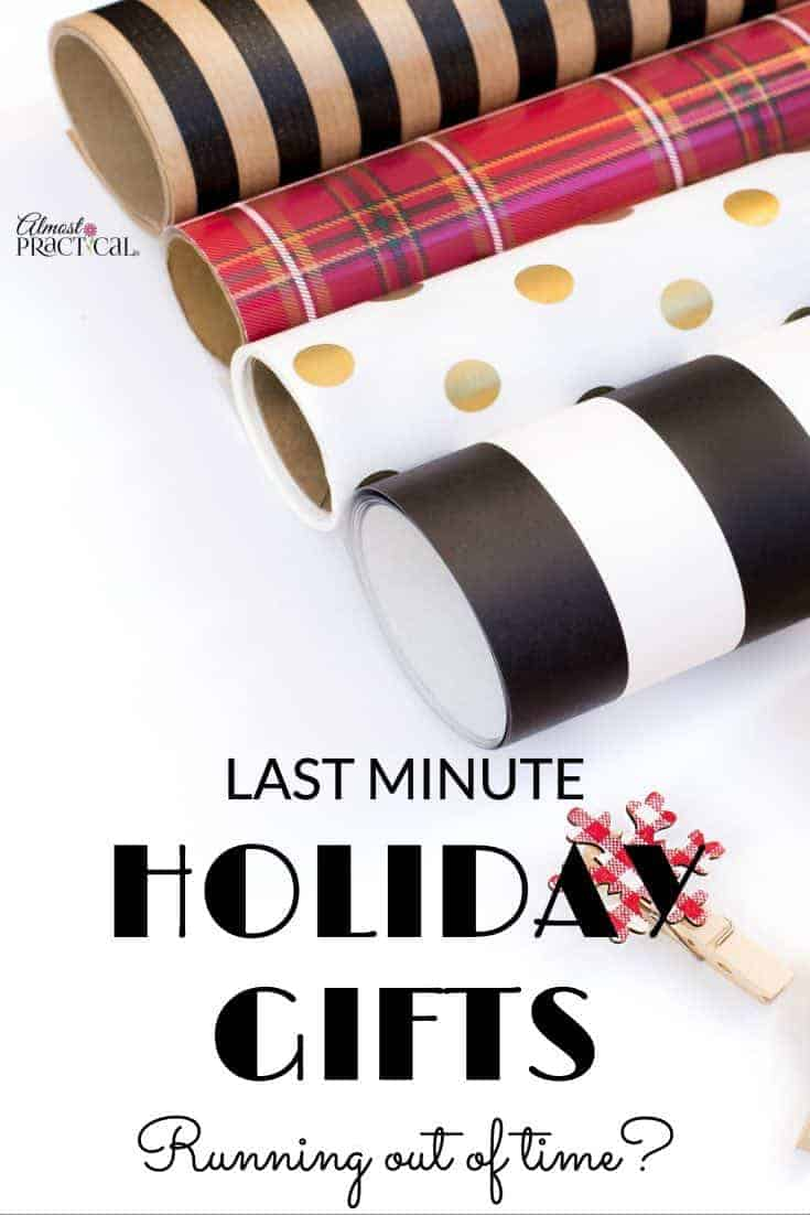Last minute holiday gifts practical ideas you can get now for Week end last minute