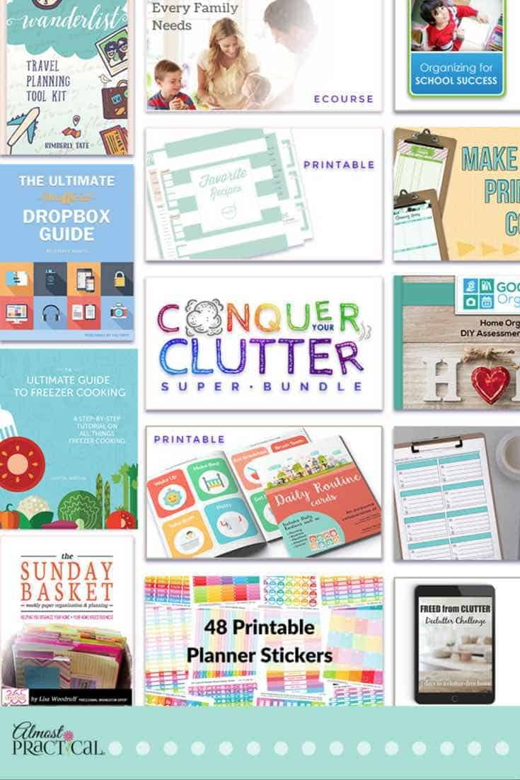 control your clutter with the conquer your clutter super bundle