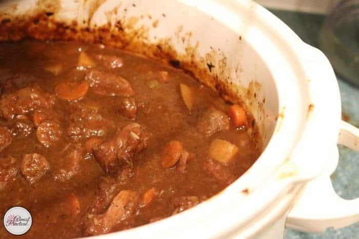 Beef Stew is ready to eat