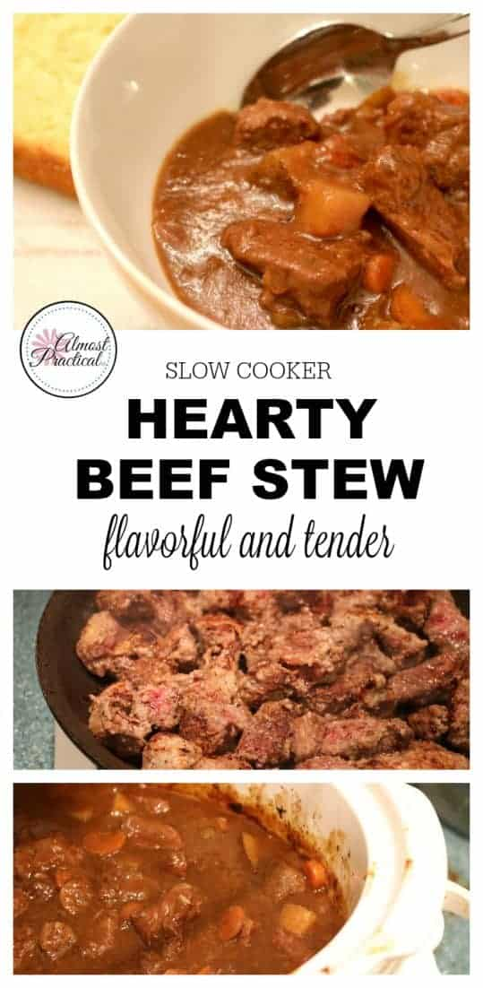 This hearty slow cooker beef stew recipe is a main dish that is sure to satisfy.