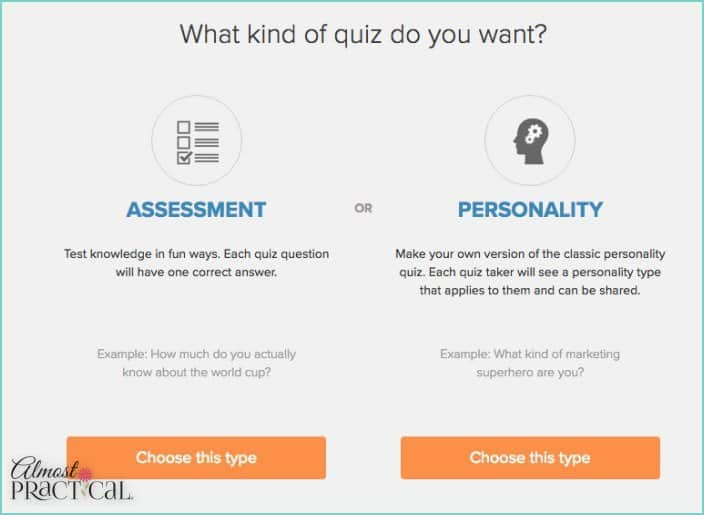 the Interact Quiz Builder