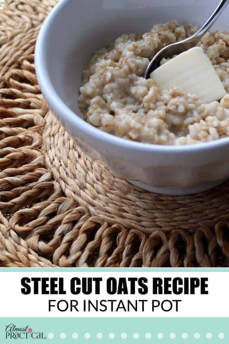 This steel cut oats recipe for the Instant Pot is made with water and makes for an easy breakfast.