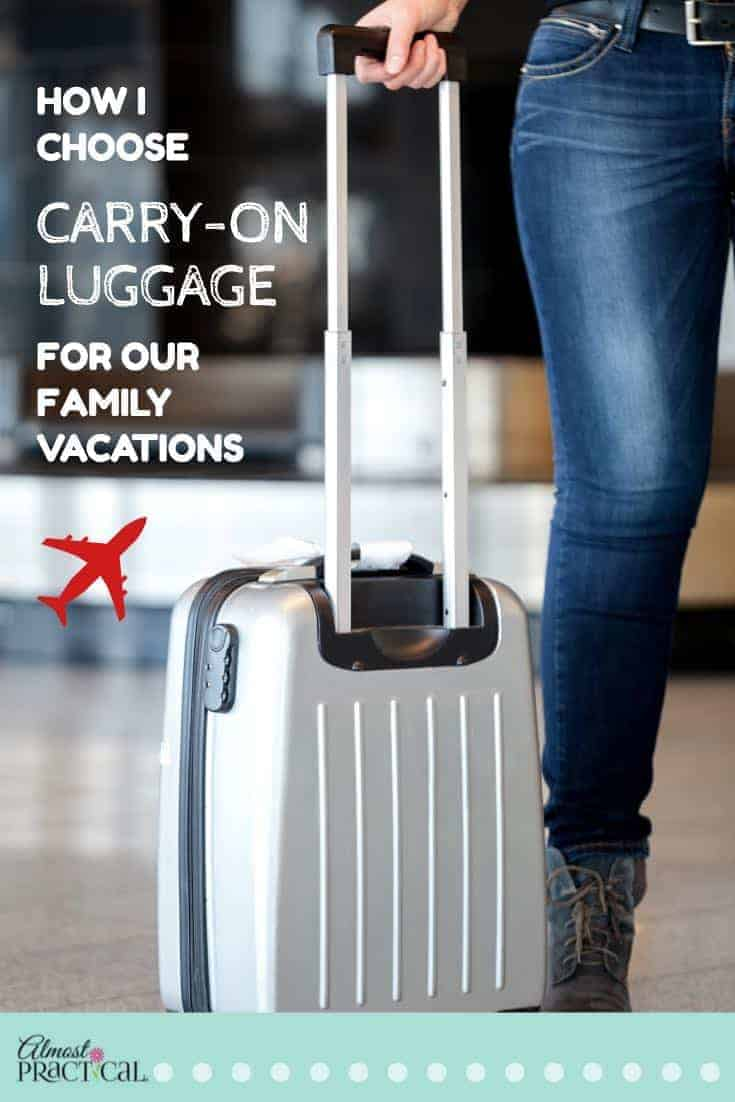 When you travel, there is no one perfect piece of carry-on luggage. I use these tips for figuring out how to choose the best carry-on bag for our family vacations and trips.