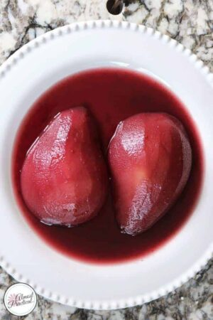 "Poached pears recipe for the Instant Pot® - an easy dessert recipe from The ""I Love My Instant Pot®"" Recipe Book by Michelle Fagone."