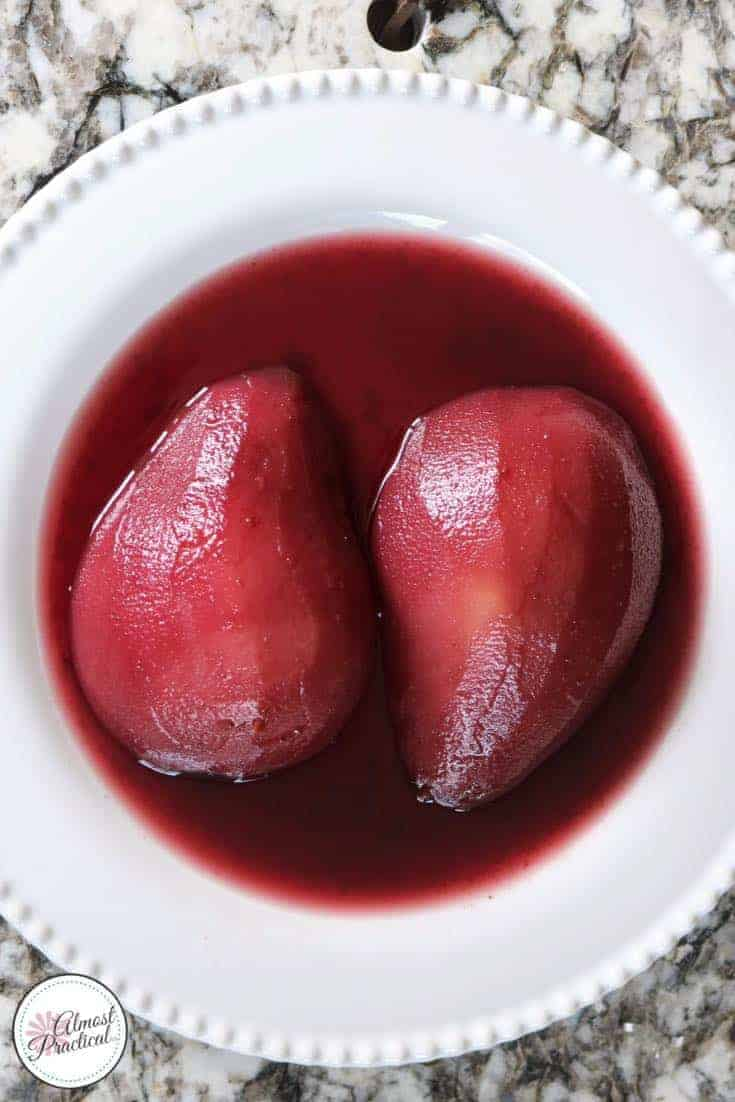 Poached pears recipe for the Instant Pot® - an easy dessert recipe from The