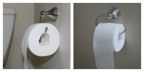 Scott® Brand Tube Free Toilet Paper side by side.