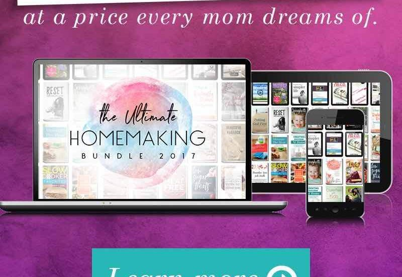 The Ultimate Homemaking Bundle from Ultimate Bundles will help you run your home more efficiently. Use these resources and bonuses to gain more time.