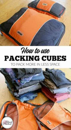 How to use eBags packing cubes to fit more into your carry-on bags and luggage on your next trip or family vacation. Don't travel without them!