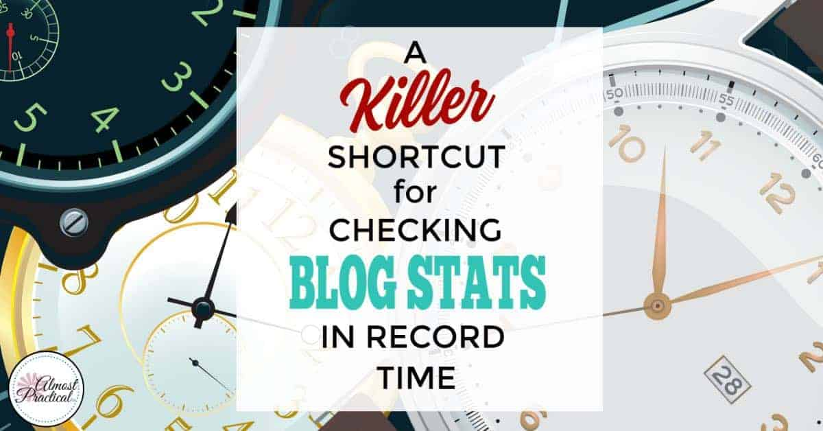 If you obsessively check your blog stats, use this browser shortcut/tip to minimize the time that you spend and increase your productivity.