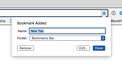 name your bookmark in Chrome