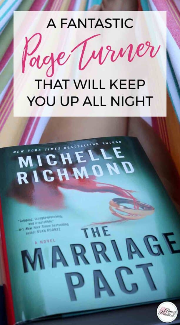 The Marriage Pact by Michelle Richmond is a spine chilling page turner that will keep up into the wee hours of the night. One of the must read books of the summer.