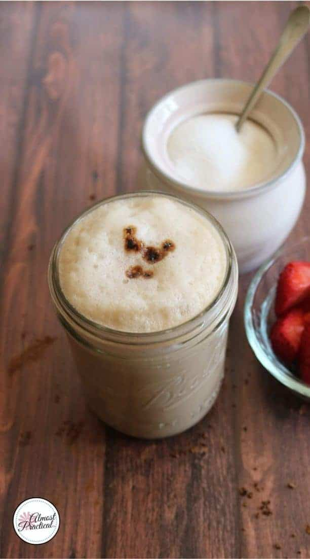 Homemade latte is easy to make. This is how to make a latte at home with instant coffee. It is so good, you will think it is from a coffee house.