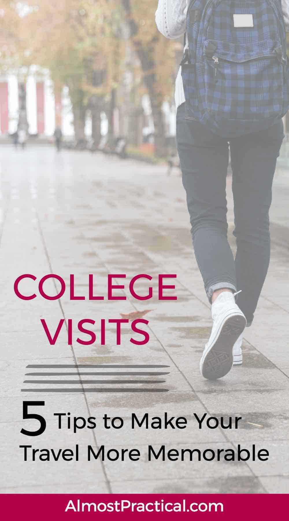 Use these travel tips to make your college visits more fun and less stressful for parents and teenagers. Turn your road trip into a memorable experience for you and your soon to be high school graduate.