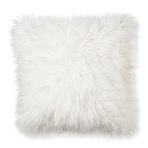 Flokati style pillow - faux fur.