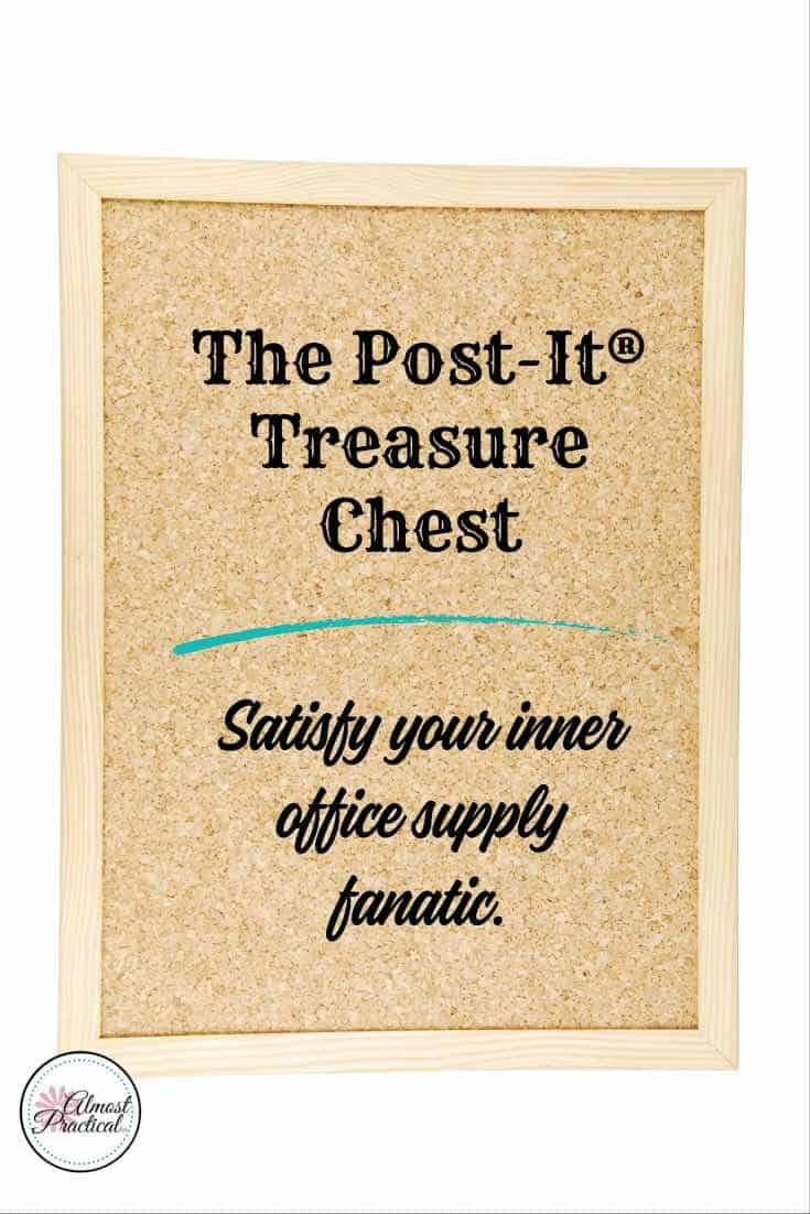 The Post-It® Treasure Chest is 10 pounds of assorted Post-It® notes and it is on sale now. Satisfy your inner office supply fanatic.