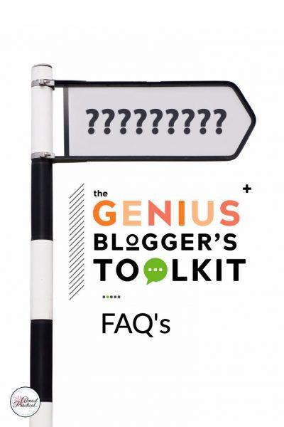 The 2018 Genius Blogger's Toolkit FAQ's