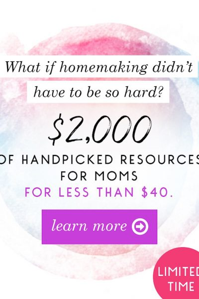 The Ultimate Homemaking Bundle Flash Sale is on now. Two days only!