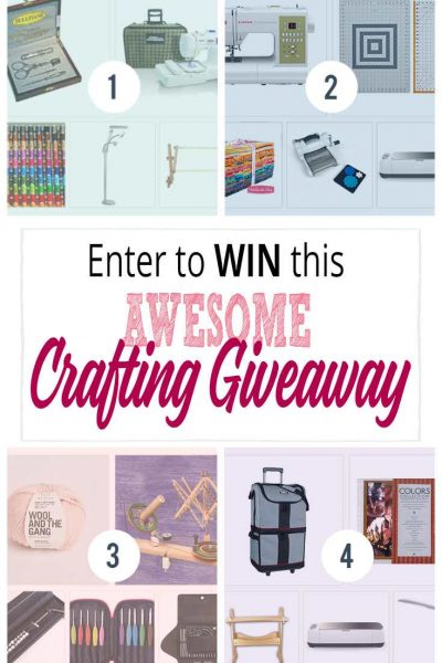 Enter to win this awesome crafting giveaway. Amazing DIY prizes including a Cricut Maker machine and a Brother Embroidery and Sewing machine