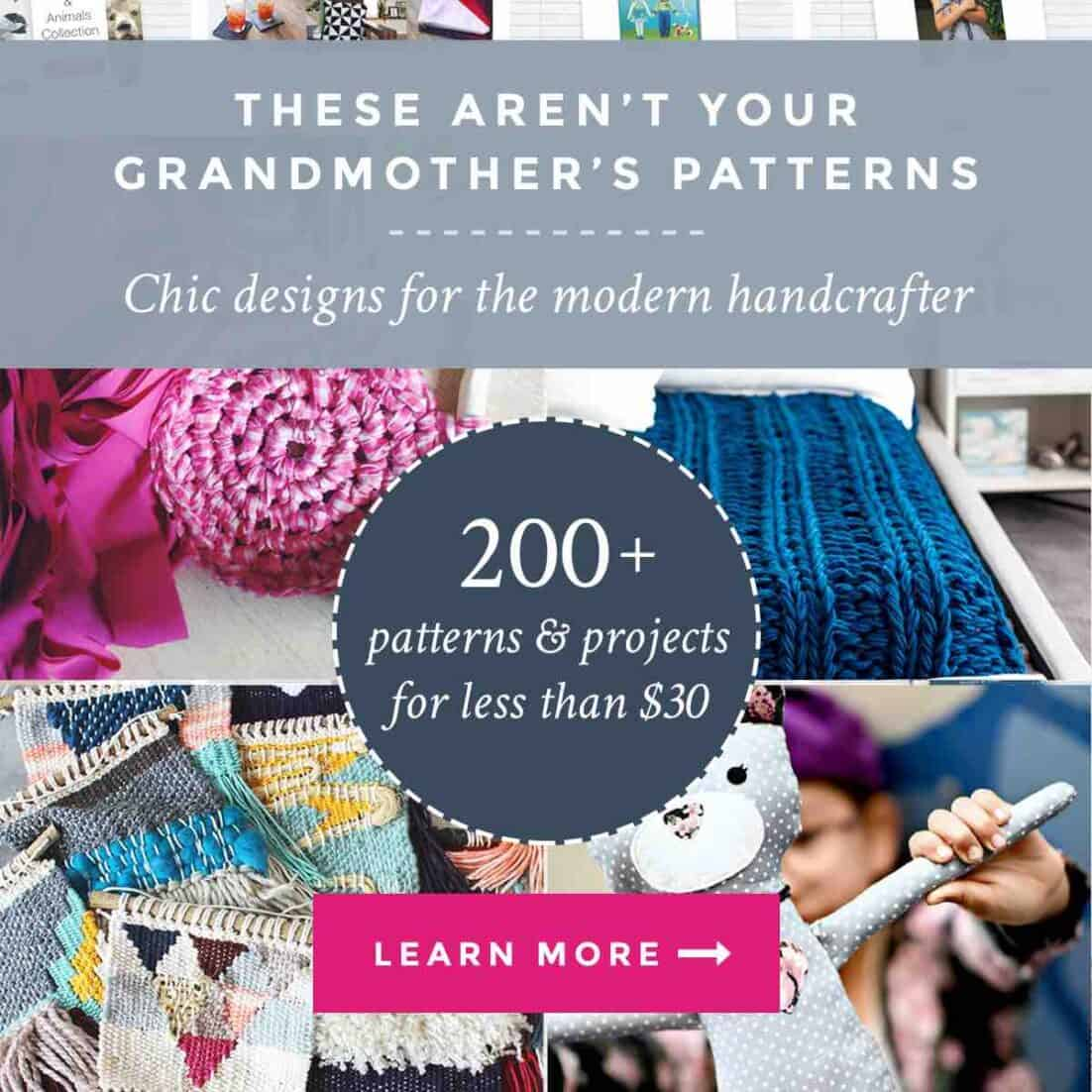 The Handmade With Love Super Bundle from Ultimate Bundles is here - tons of DIY patterns and inspiration for crafters. Sewing, knitting, crocheting - name your creative outlet.
