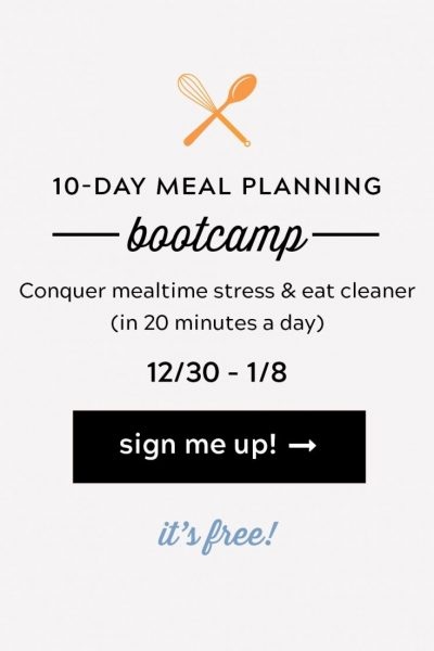 10 Day Meal Planning Bootcamp