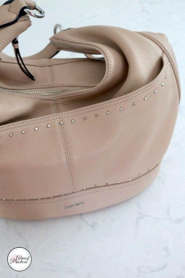 Calvin Klein studded hobo bag.