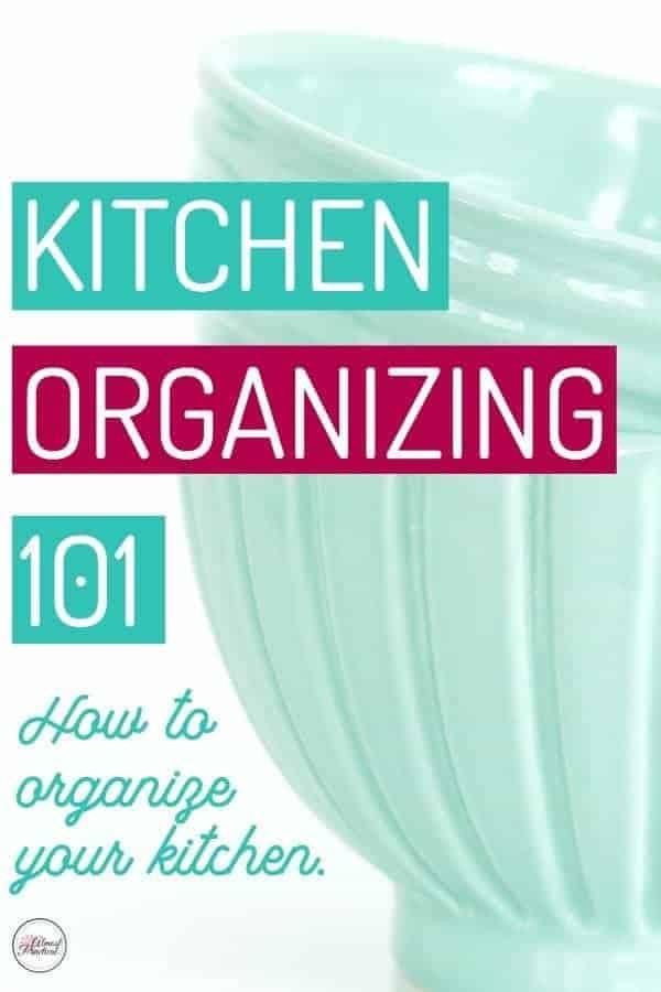 Kitchen Organization - Tips to organize your kitchen.