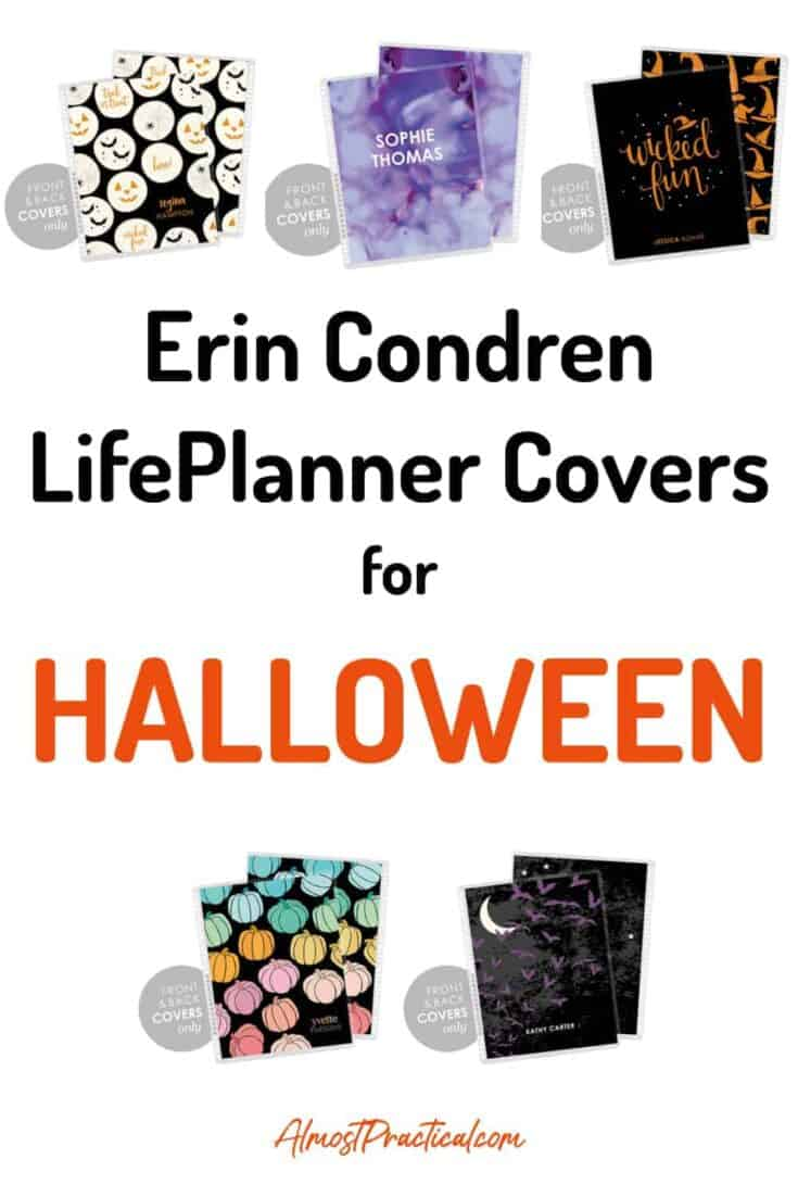 A collection of Erin Condren Halloween covers