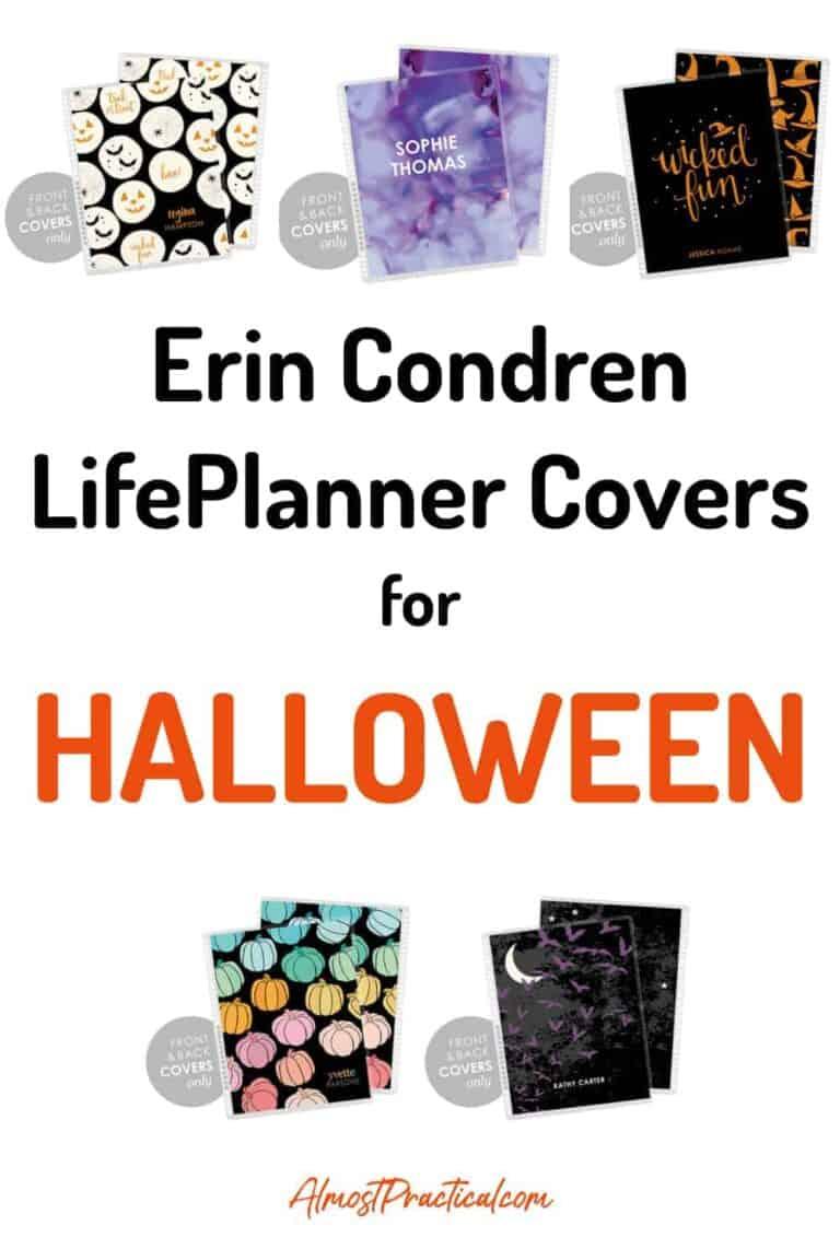 Erin Condren LifePlanner Covers for Halloween