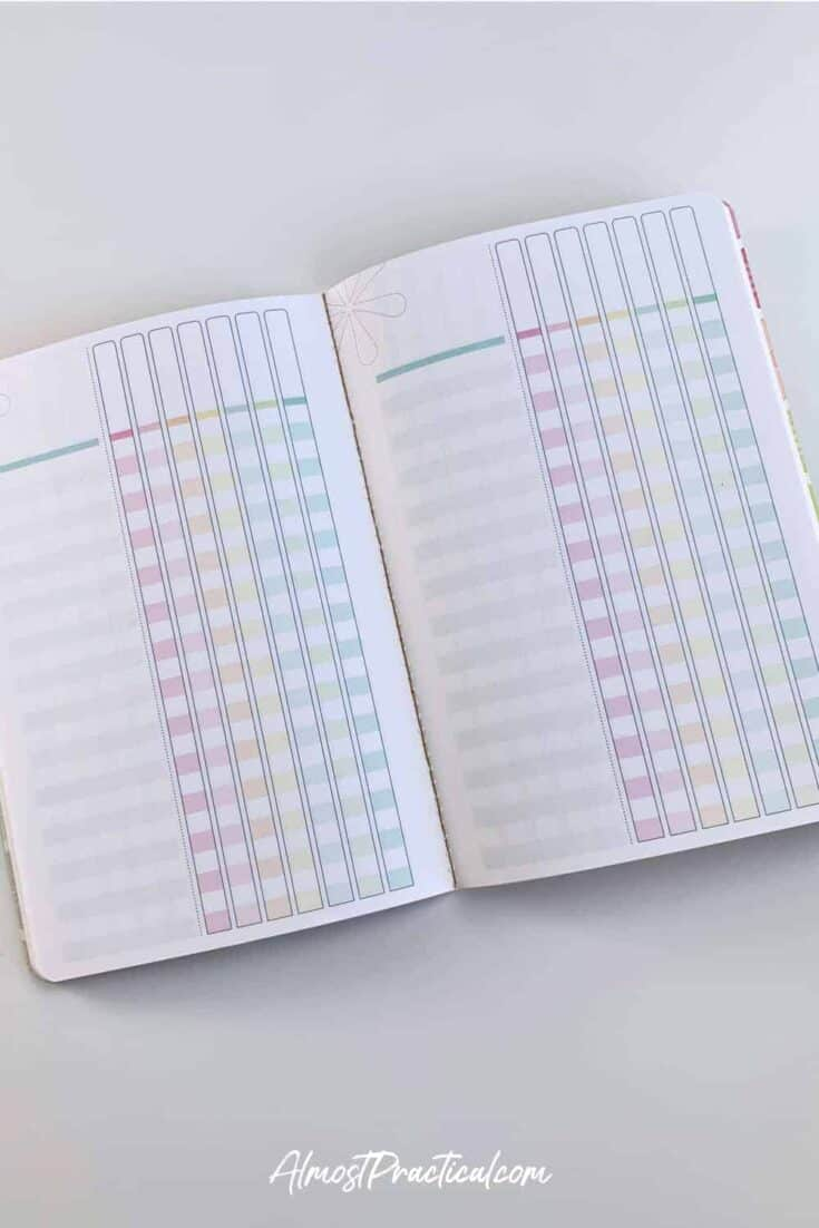 Inside pages of the Erin Condren Checklist Journal.