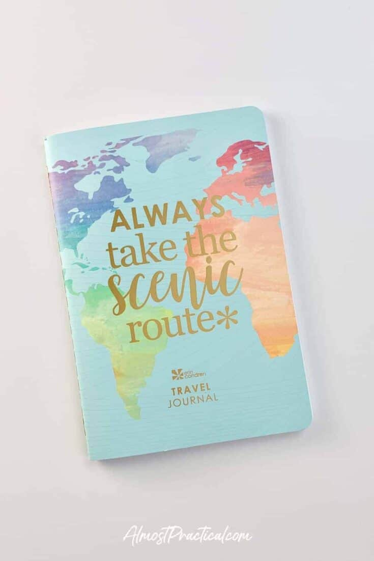 Front cover of the Erin Condren Travel Planner.