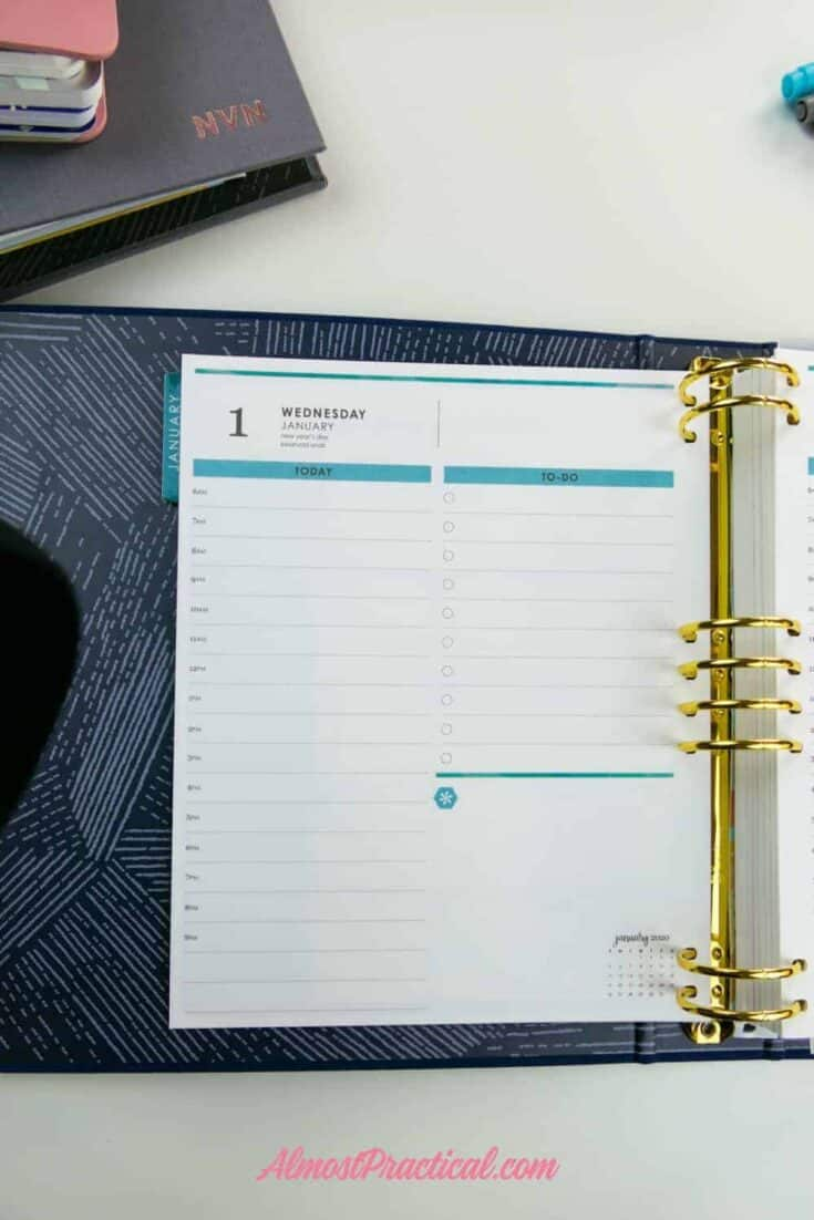 The Erin Condren LifePlanner Binder in the new Daily layout.