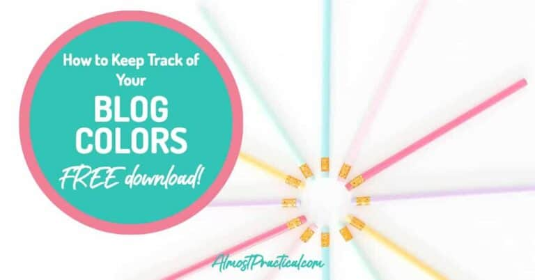 How to Keep Track of Your Blog Colors
