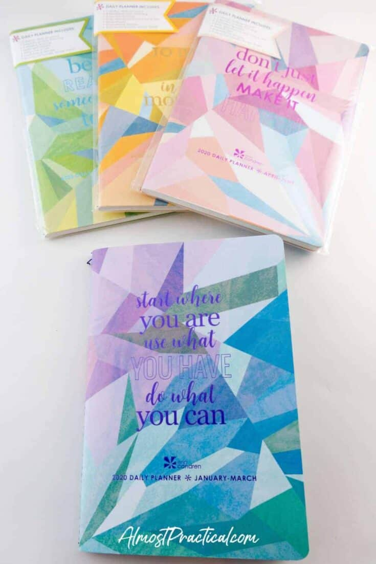 The Erin Condren Daily Planner Petite Planner Bundle.